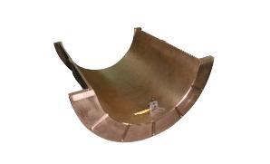 Half bearing for rotary Kilns in leaded bronze