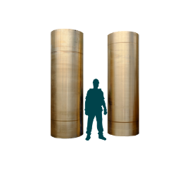 Propulsion shaft liners in aluminium bronze