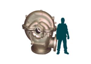 Pump casing in nickel aluminium bronze