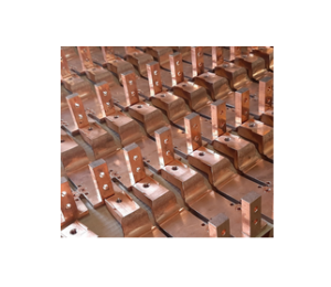 Serial production of electrical connectors in low allied copper