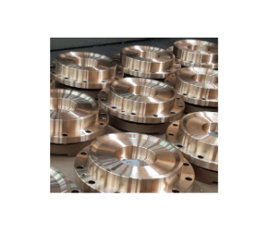 Serial production of middle flanged discs in bronze