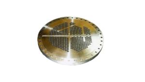 Tubular plate for heat exchanger in nickel aluminium bronze