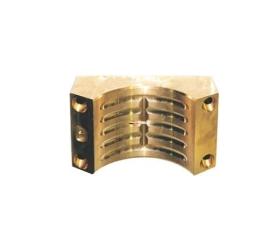 Wearing block in brass