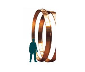 Wearing rings in aluminium bronze for hydraulic turbines