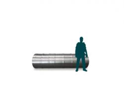 Hollow shaft in aluminium